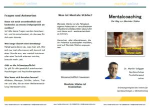 Faltblatt mentalcoaching